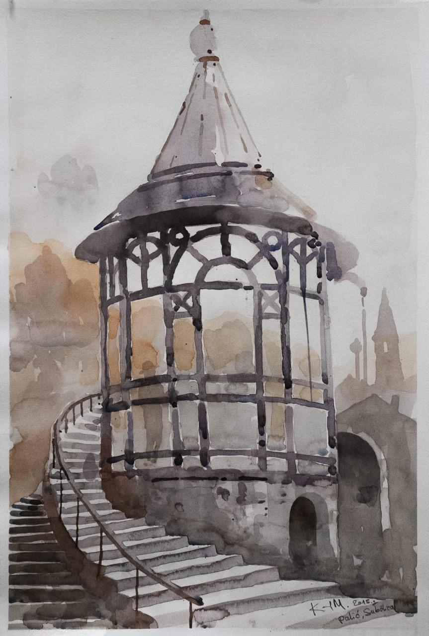 Palić – Subotica II. – Kemal Mehmedović Akvarel 56x53