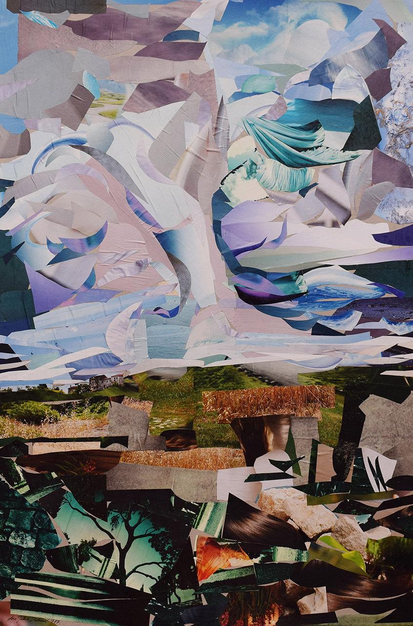 Nebo i zemlja – Ana Jakić Divković Kolaž 100x70
