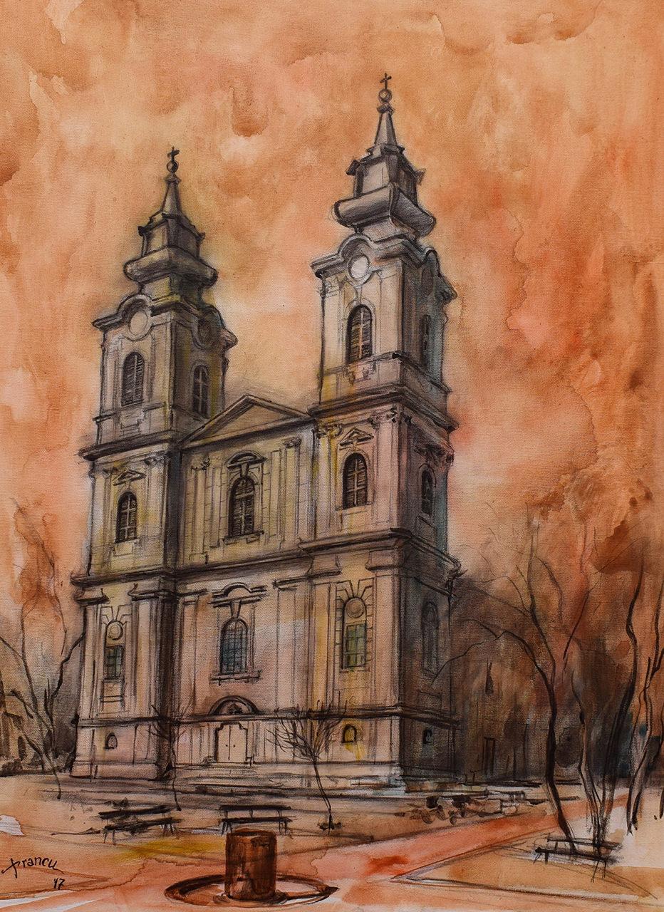 Bazilika Sv. Terezije Avilske u Subotici – Tudor Francu Ulje na platnu 100x50