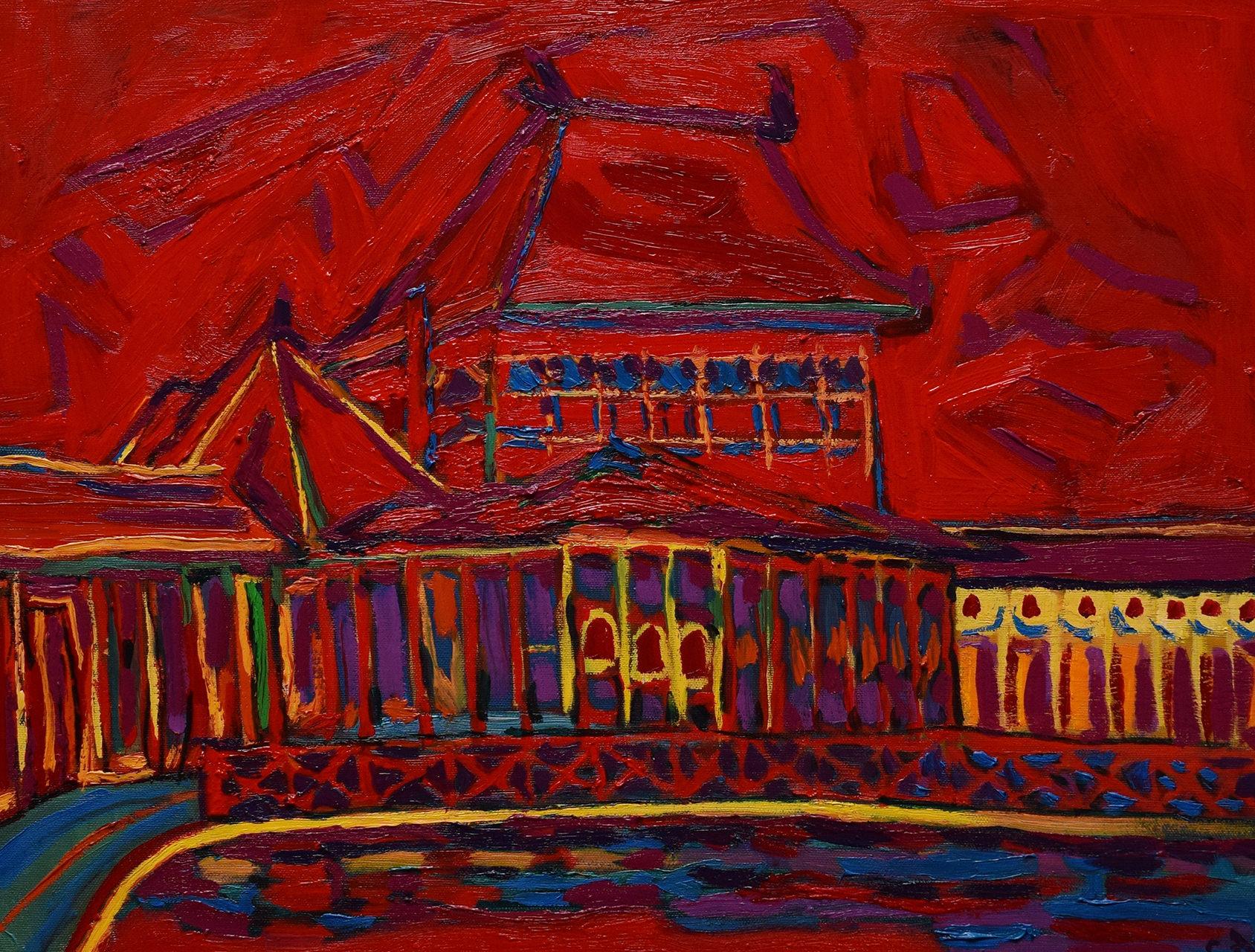 Crveni Palić – Almedina Cifrić Ulje na platnu 50x60